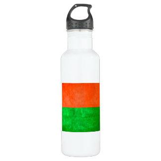 Bandera malgache del contraste colorido botella de agua de acero inoxidable