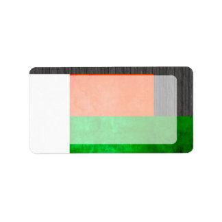 Bandera malgache del contraste colorido etiqueta de dirección