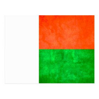 Bandera malgache del contraste colorido postal