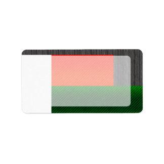 Bandera malgache pelada moderna etiqueta de dirección