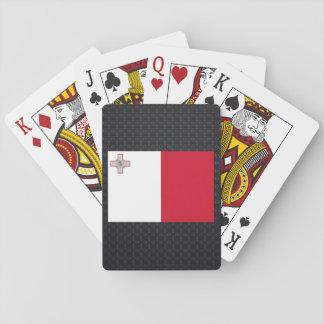 Bandera maltesa baraja de cartas