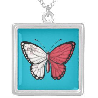Bandera maltesa de la mariposa pendiente personalizado