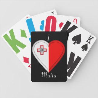 Bandera maltesa de Malta Barajas De Cartas
