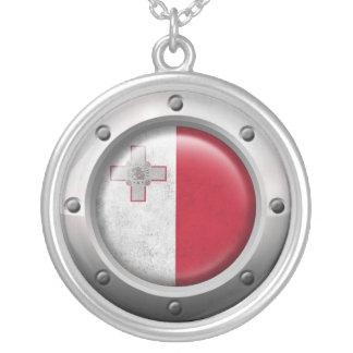 Bandera maltesa industrial con el gráfico de acero colgantes personalizados