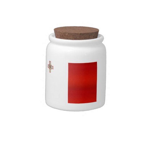 Bandera maltesa pelada moderna jarra para caramelo