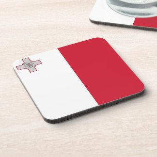 Bandera maltesa posavasos de bebida