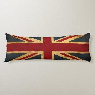 Bandera manchada de Union Jack Reino Unido Cojin Cama