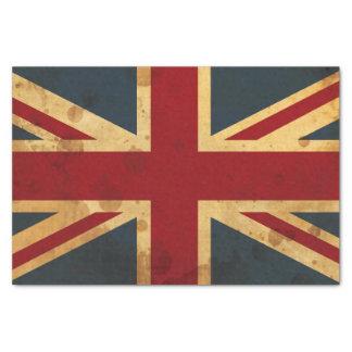 Bandera manchada de Union Jack Reino Unido Papel De Seda Pequeño