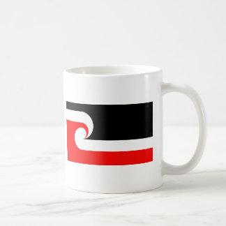 Bandera maorí taza de café