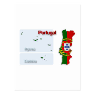Bandera Map_2 de Portugal Postal