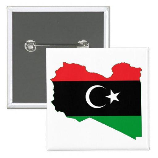 Bandera-mapa del Reino de Libia Pin