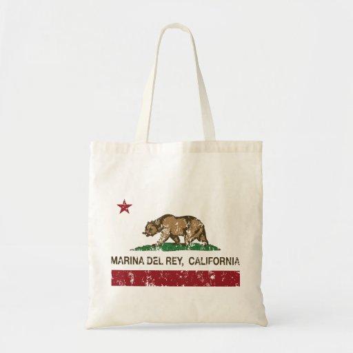 Bandera Marina Del Rey de la república de Californ Bolsa Tela Barata
