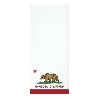 """Bandera Mariposa de la república de California Invitación 4"""" X 9.25"""""""