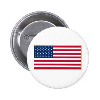 Bandera marítima franjada oro de Estados Unidos el Pin Redondo De 2 Pulgadas