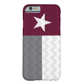 Bandera marrón Chevron de Tejas Funda Para iPhone 6 Barely There