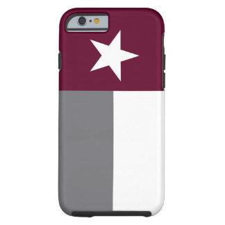 Bandera marrón de Tejas Funda Para iPhone 6 Tough