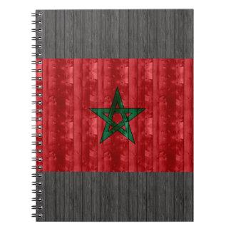 Bandera marroquí de madera notebook