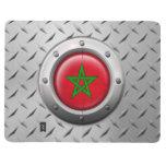Bandera marroquí industrial con el gráfico de acer cuaderno