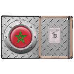 Bandera marroquí industrial con el gráfico de acer iPad protector