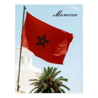 bandera marroquí postal