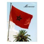 bandera marroquí tarjeta postal