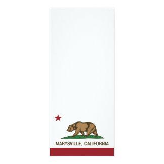 """Bandera Marysville de la república de California Invitación 4"""" X 9.25"""""""