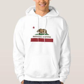 Bandera Marysville de la república de California Suéter Con Capucha