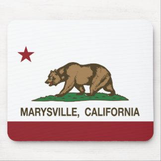 Bandera Marysville de la república de California Tapete De Raton