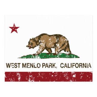 Bandera Menlo Park del oeste de la república de Postal