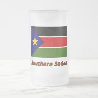 Bandera meridional de Sudán con nombre Taza De Café