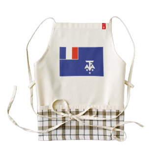 Bandera meridional francesa de la Antártida Delantal Zazzle HEART