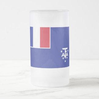 Bandera meridional y antártica francesa de las tie tazas de café