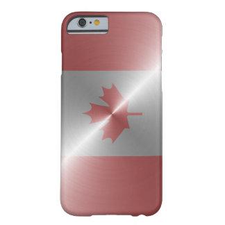 Bandera metálica de Canadá Funda Para iPhone 6 Barely There