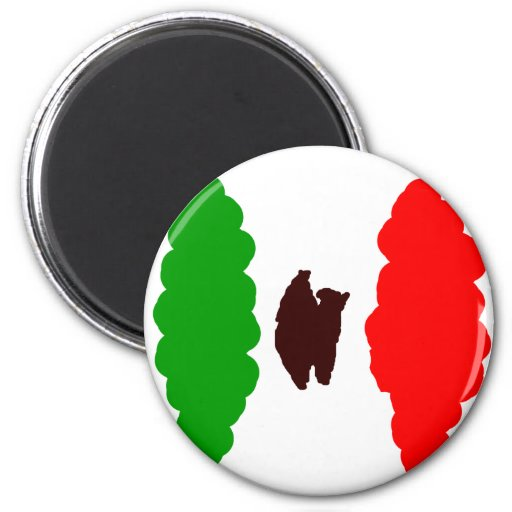 Bandera mexicana abstracta imán redondo 5 cm