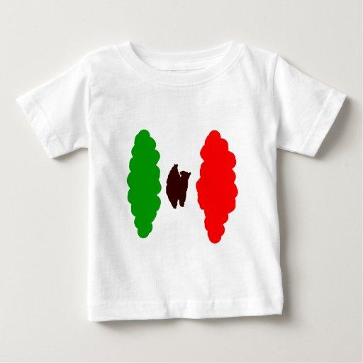 Bandera mexicana abstracta t-shirts