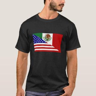 Bandera mexicana-americano. ¡Cinco feliz de Mayo! Playera