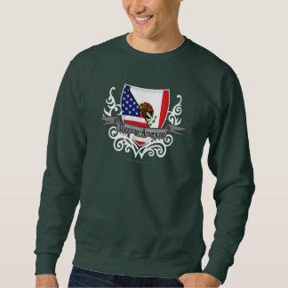 Bandera mexicana-americano del escudo suéter