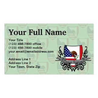 Bandera mexicana-americano del escudo plantillas de tarjetas personales