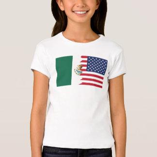Bandera mexicana-americano playera