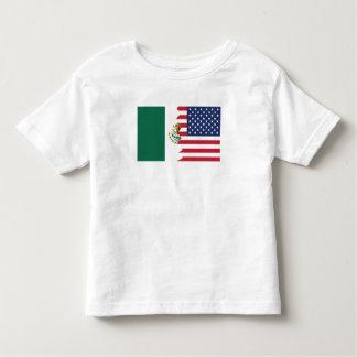 Bandera mexicana-americano playera de bebé