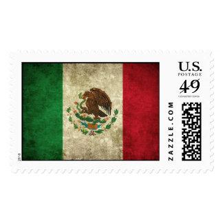 Bandera mexicana apenada sellos