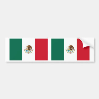 Bandera mexicana etiqueta de parachoque