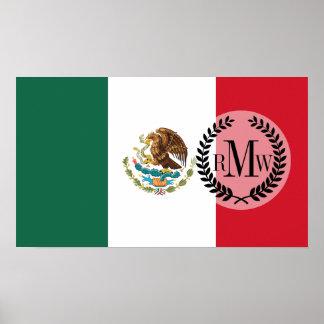 Bandera mexicana clásica póster