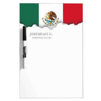 Bandera mexicana clásica tableros blancos