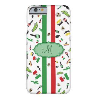 Bandera mexicana con los iconos de México Funda Para iPhone 6 Barely There