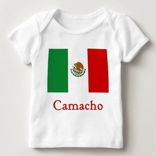 Bandera mexicana de Camacho Playera De Bebé