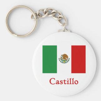 Bandera mexicana de Castillo Llaveros Personalizados
