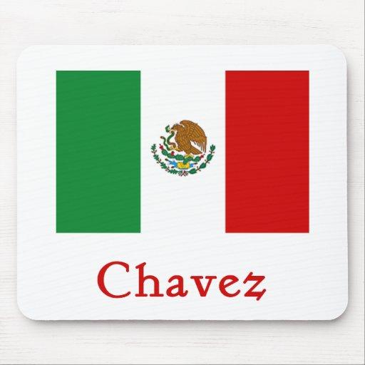 Bandera mexicana de Chavez Alfombrillas De Ratones