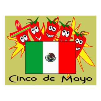 BANDERA MEXICANA de Cinco de Mayo Postales