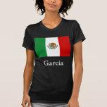 Bandera mexicana de García T Shirts